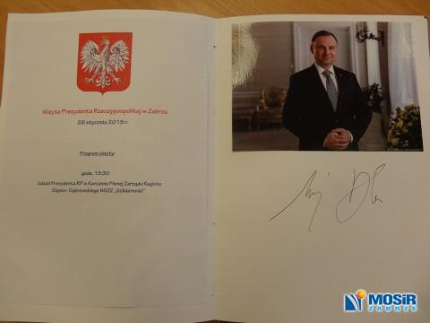 Wizyta Prezydenta Rzeczypospolitej w Hali MOSiR