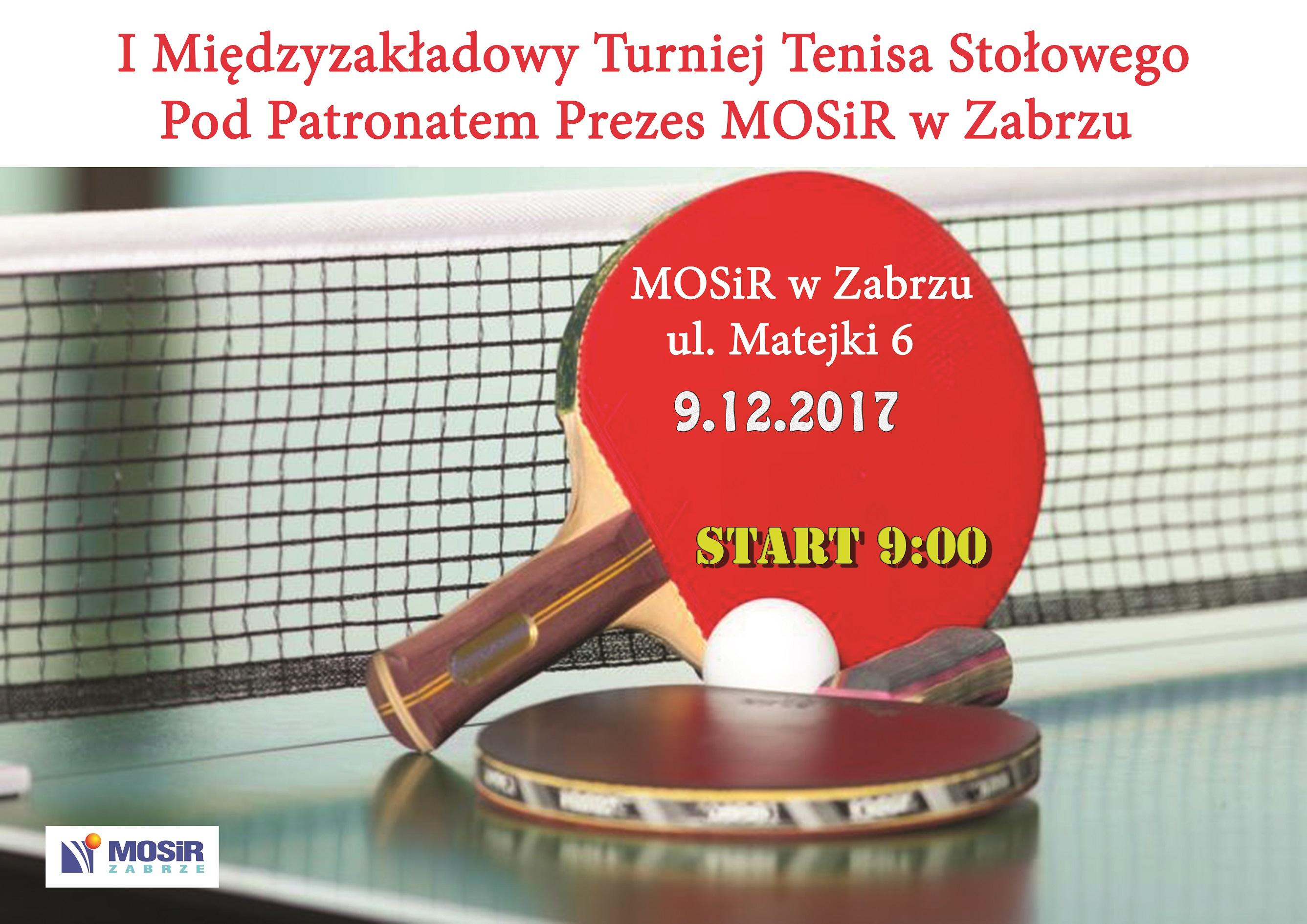 I Międzyzakładowy Turniej Tenisa Stołowego