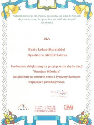 Dyplom MOPR